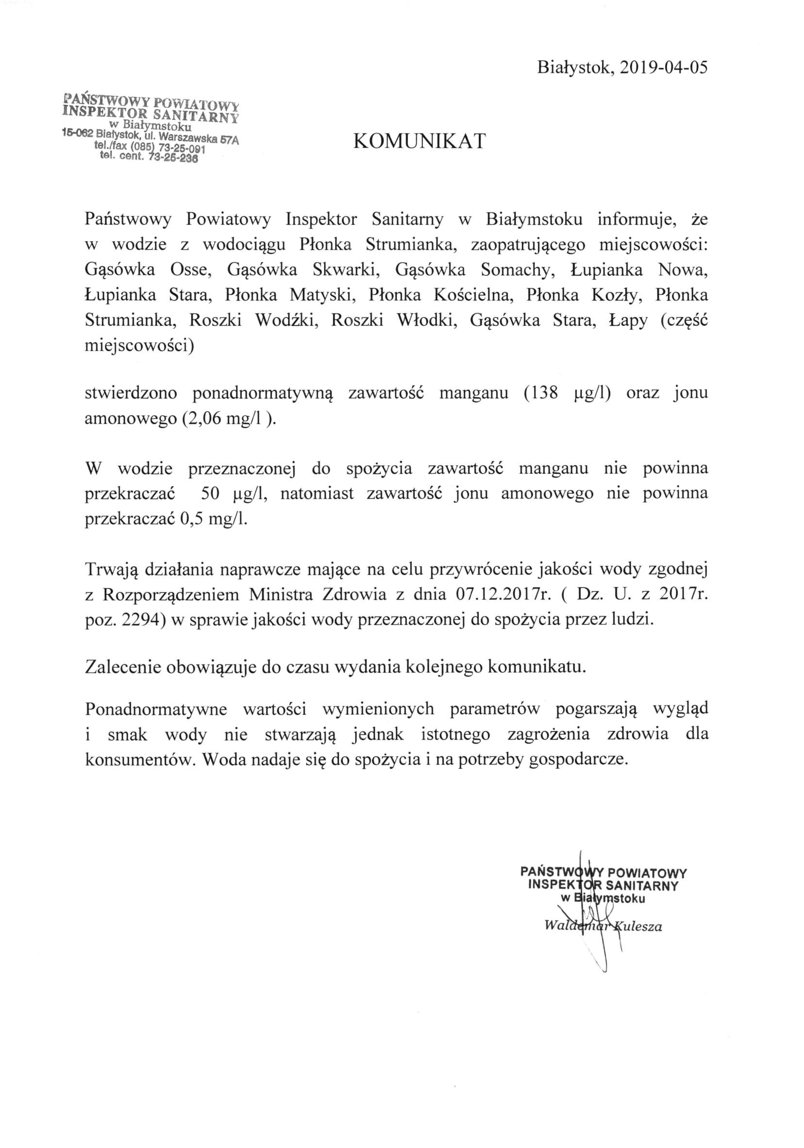 woda-jakosc_PłonkaStrumianka